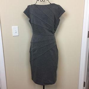 London Style Grey Sexy Body Con Dress Size 8